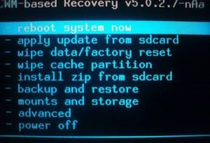 Recovery Menu Android