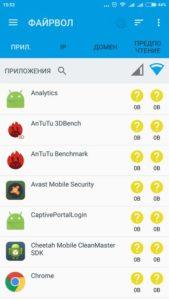 Как на Android запретить приложениям доступ в интернет
