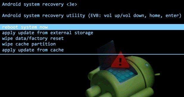 меню recovery