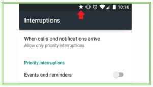 На телефоне Android появилась звездочка в верхнем правом углу