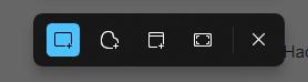 Панель скриншота Windows 11